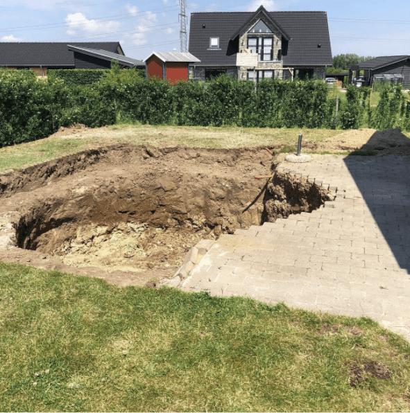 Udgravning til Swimmingpool
